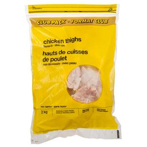 No Name Club Pack Chicken Thighs, Bone-In, 2 kg
