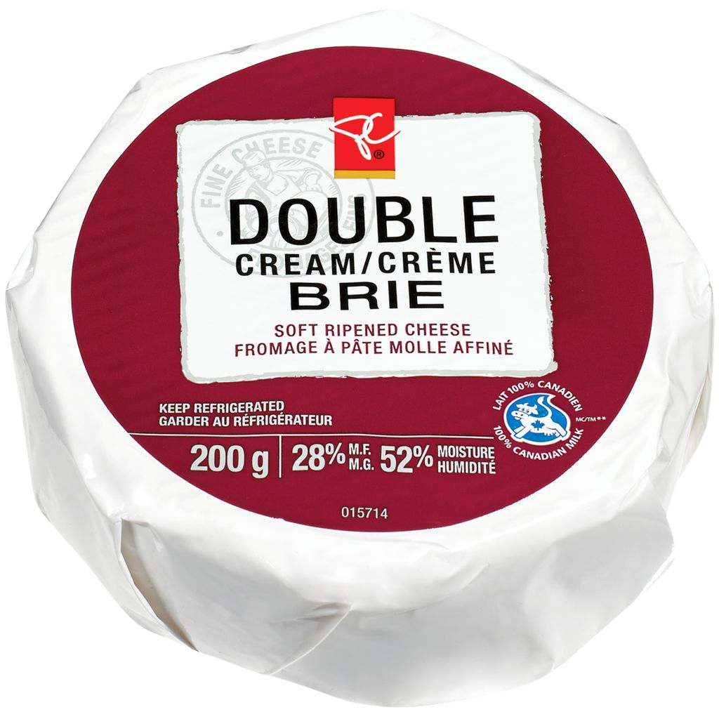 President's Choice Double Cream Brie Cheese, 200 g