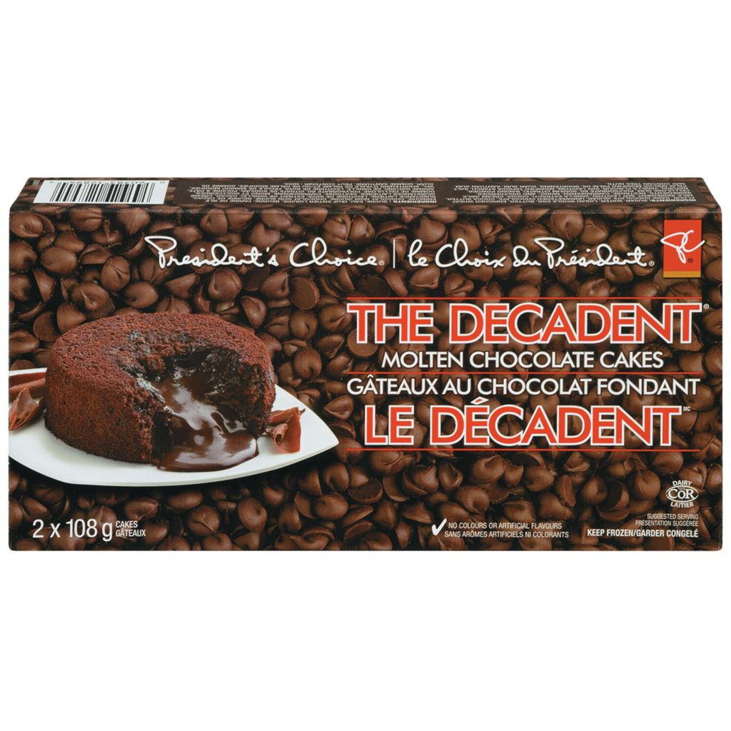 President's Choice The Decadent Molten Chocolate Cakes, 216 g
