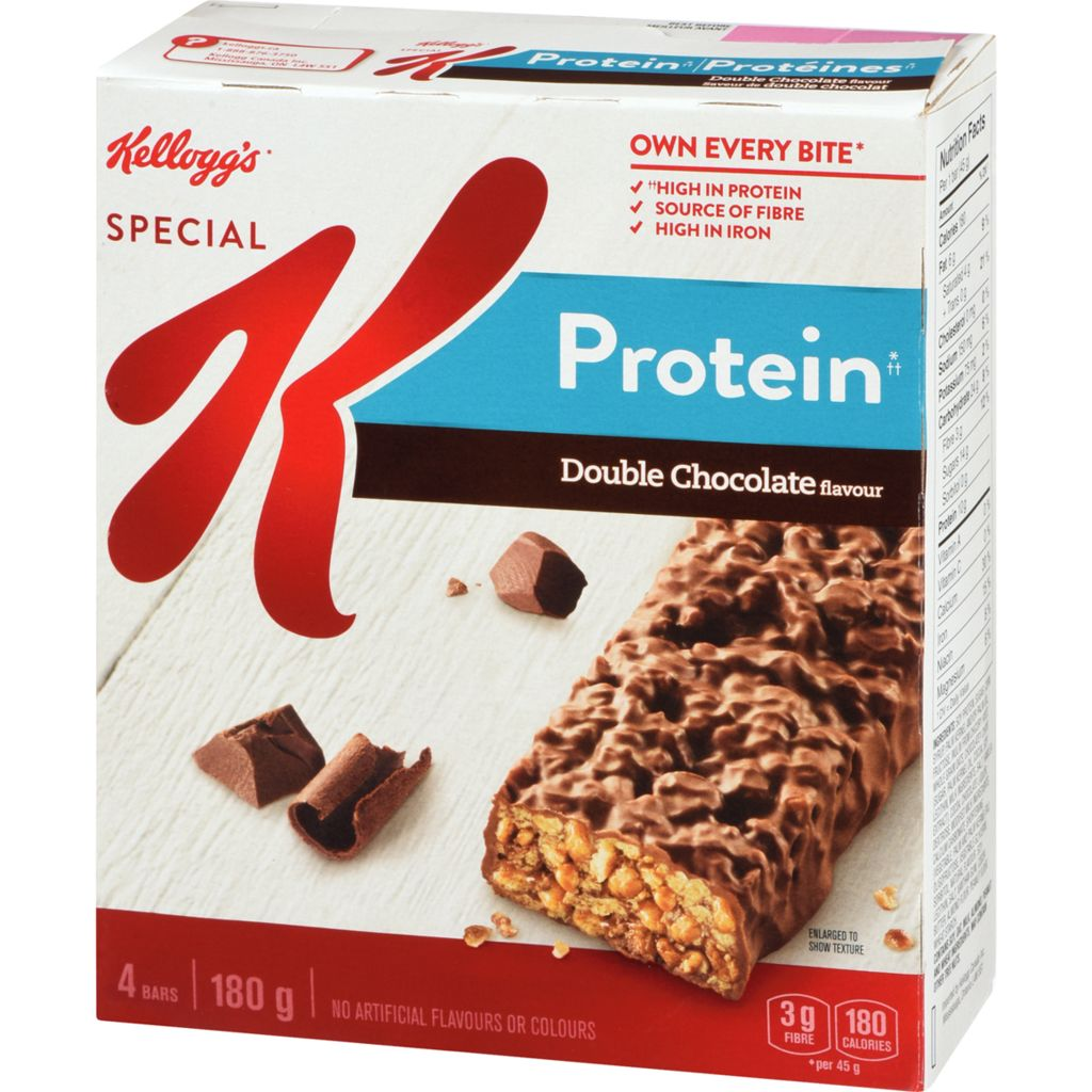 Kelloggs Special K Protein Bars, Double Chocolate Flavour 4 bars, 180 g