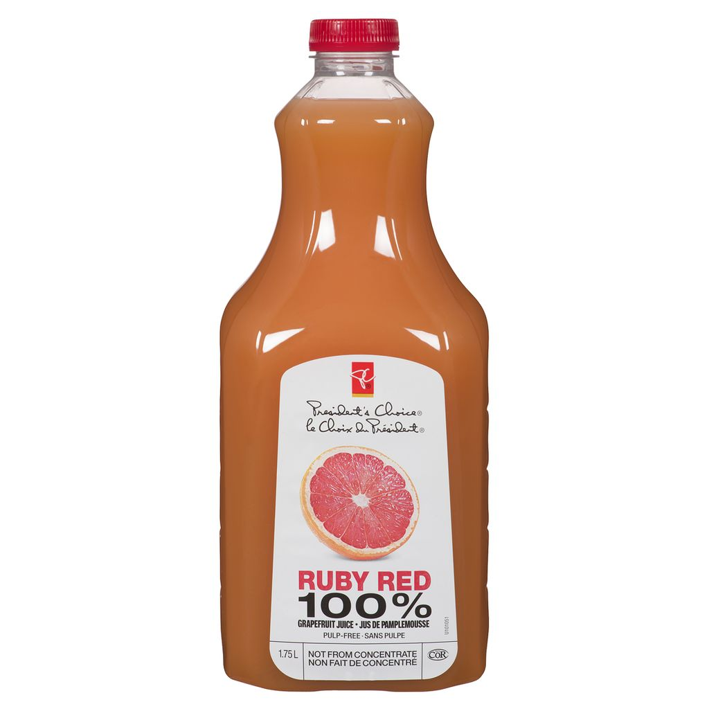 President's Choice Ruby Red Grapefruit Juice, 1.75 L