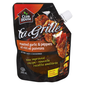 Club House Roasted Garlic & Peppers Wet Rub, 200 mL