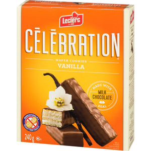 Leclerc Celebration Wafers, Vanilla, 240 g