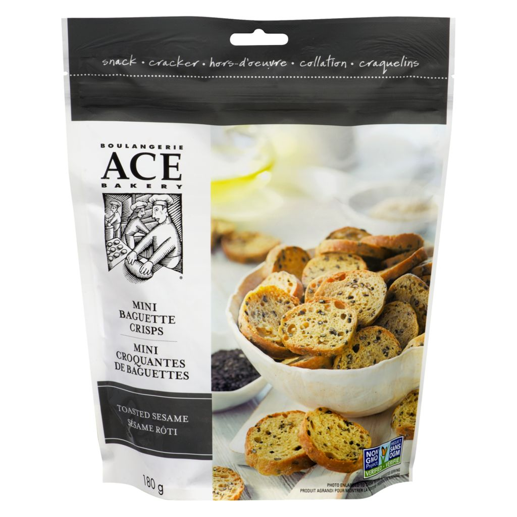 ACE Toasted Sesame Mini Crisps, 180 g