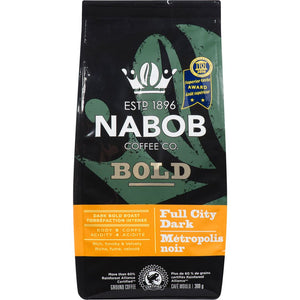 Nabob Bold Full City Dark Ground Coffee, 300 g