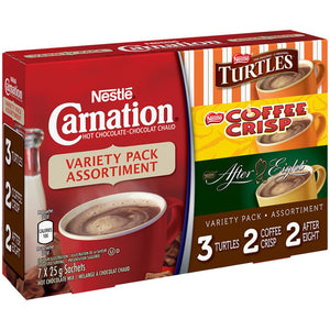 Carnation Carnation Flavoured Hot Chocolate Variety Pack, 25 g
