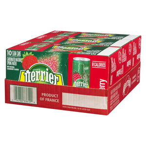 Perrier Perrier Slim Can Strawberry, 10x250mL