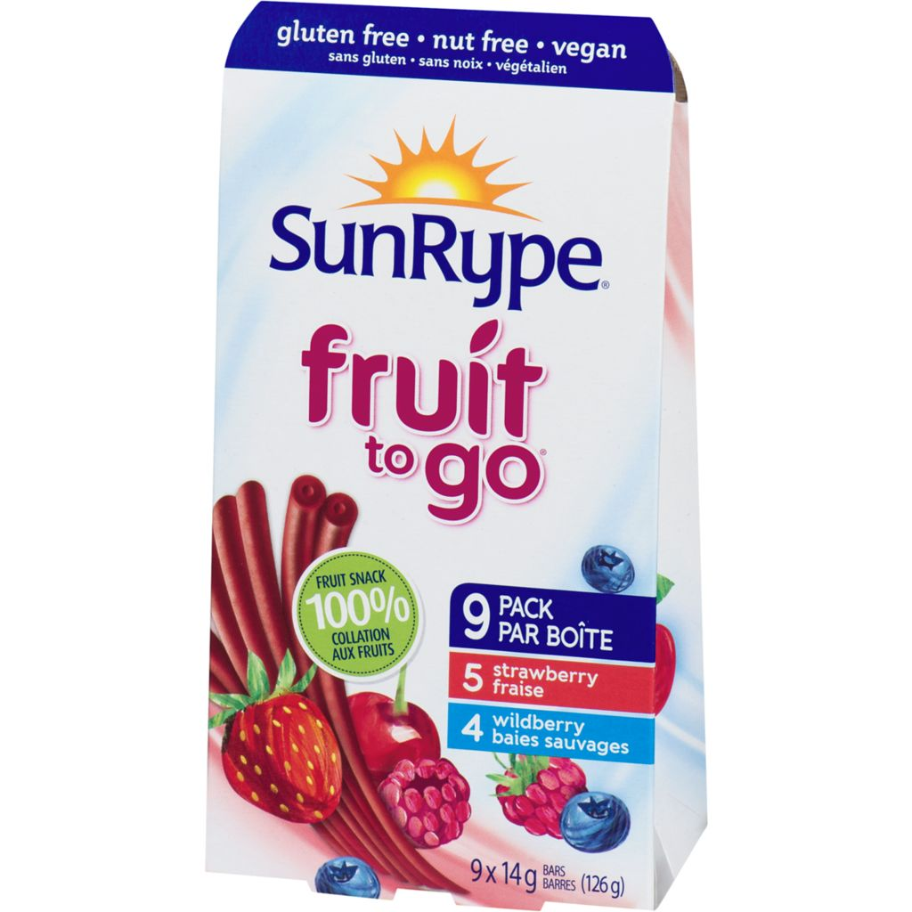 Sun-Rype Fruit to Go Strawberry Wildberry Bars, 126 g
