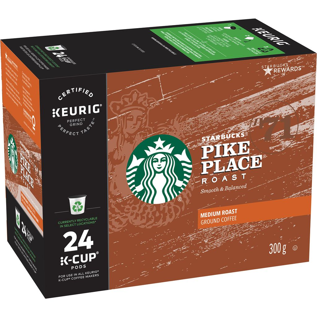Starbucks Pike PlaceK-Cup Coffee Pods, 24 ea