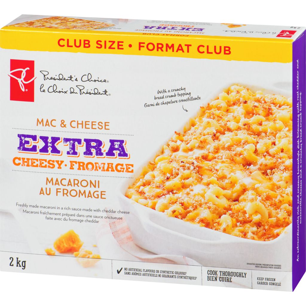 President's Choice Mac & Cheese Extra Cheesy, Club Size, 2 kg