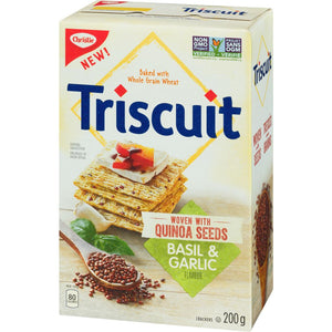 Christie TRISCUIT woven with Quinoa Seeds, Basil & Garlic, 200 g
