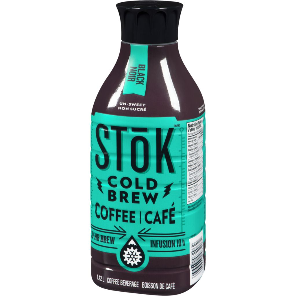 Danone STOK Cold Brew Coffee, Black and unsweetened, 1.42L, 1.42 L