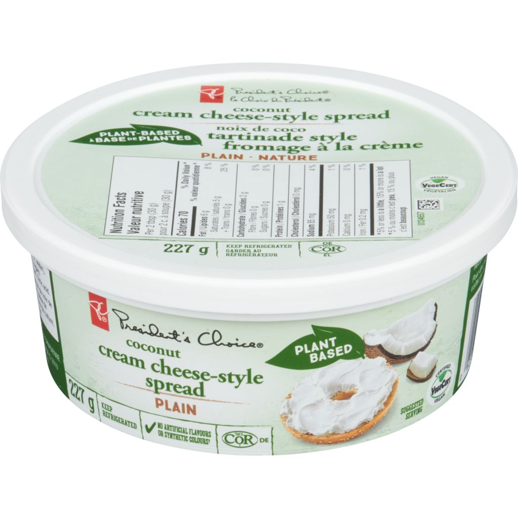 President's Choice PC VEGAN CREAM CHEESE, 227 g