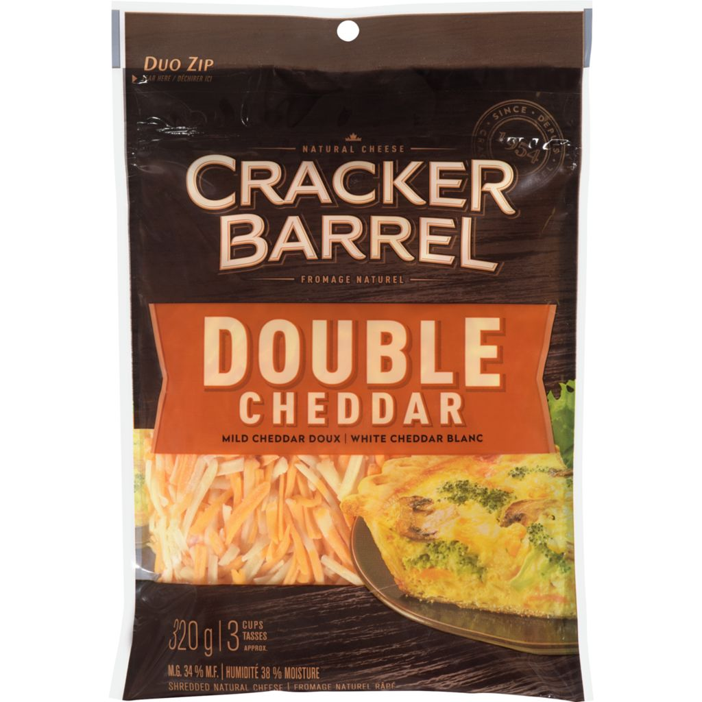 Cracker Barrel Shreds Double Ched, 320 g