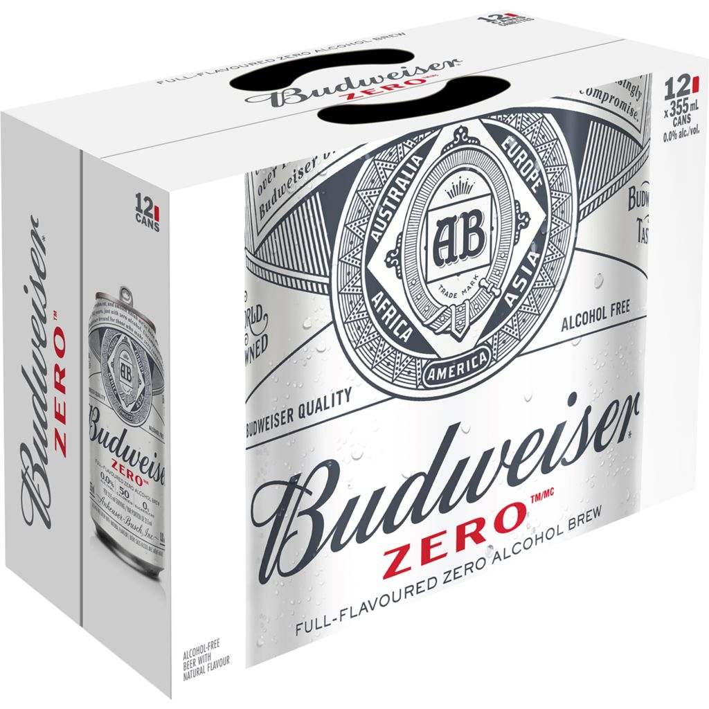 Budweiser Bud Zero Can, 12x355mL