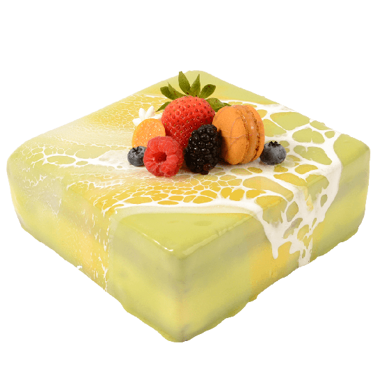 Green Tea Mousse Cake with Mochi, 7X7in