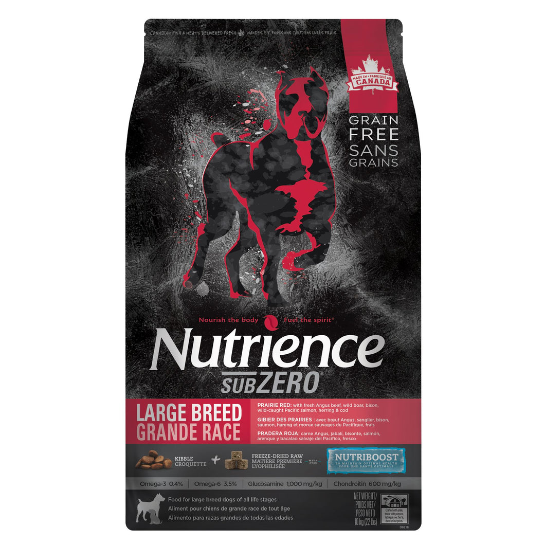 Nutrience SubZero Large Breed Dog Food - Grain Free, 22 lb  Prairie Red Beef
