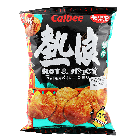 Calbee Ethnicans Hot&Spicy Potato Chips, 105g