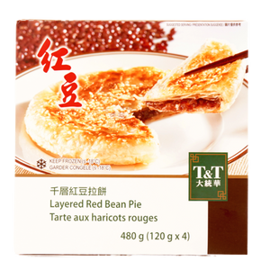 T&T Layered  Red Bean Pie, 480g