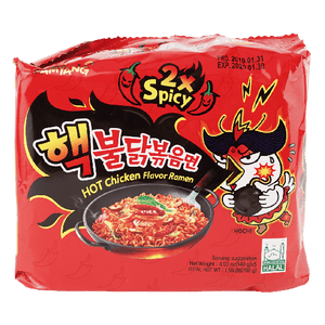 Samyang Hot Chicken 2X Spicy Fried Ramen, 140gx5