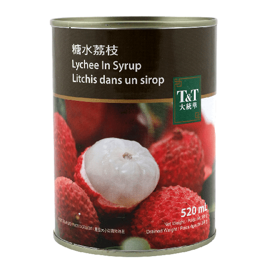 T&T Lychee in Syrup, 520ml