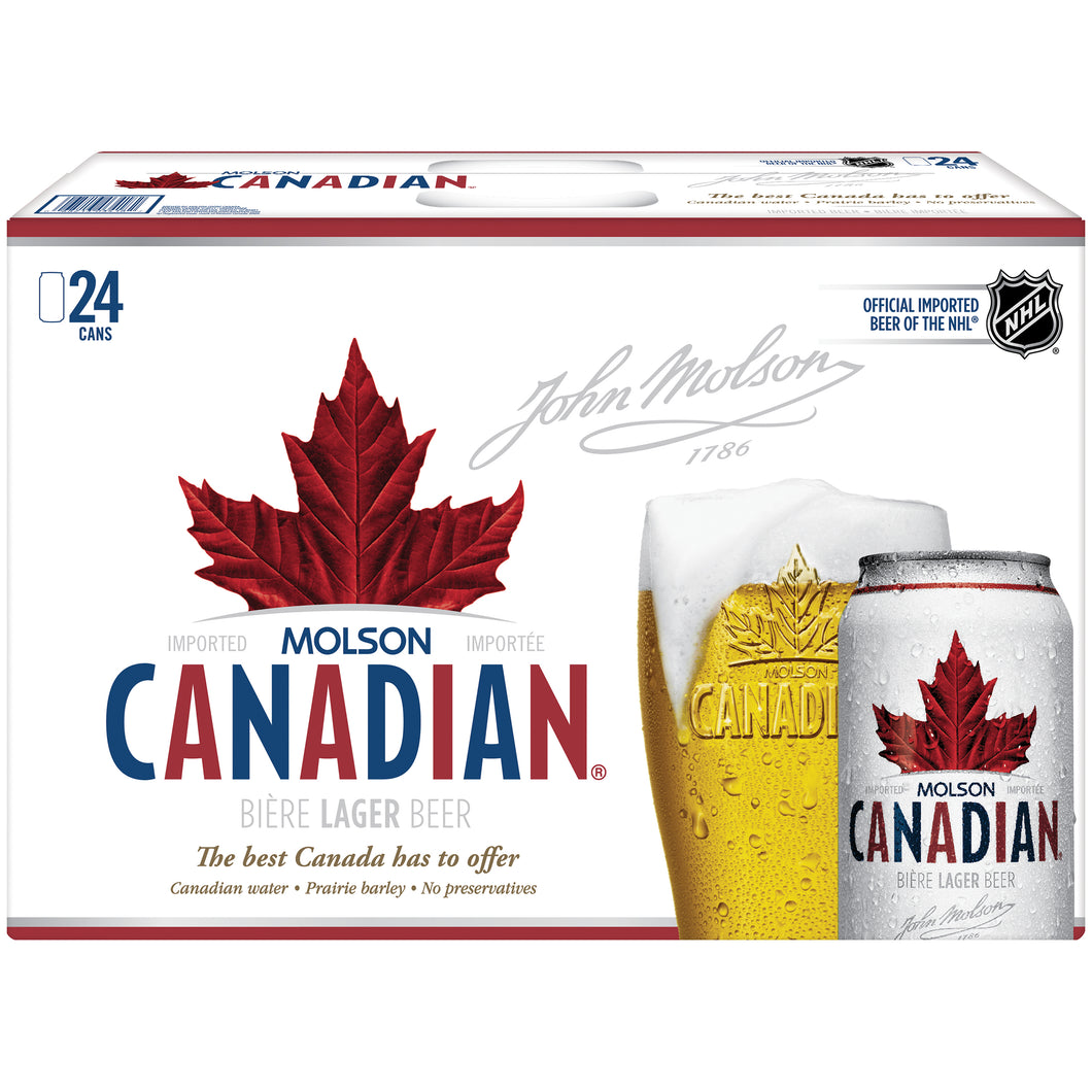Molson Canadian 24 cans