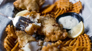Old English Battered Cod Portions (House made) 500g, Frozen