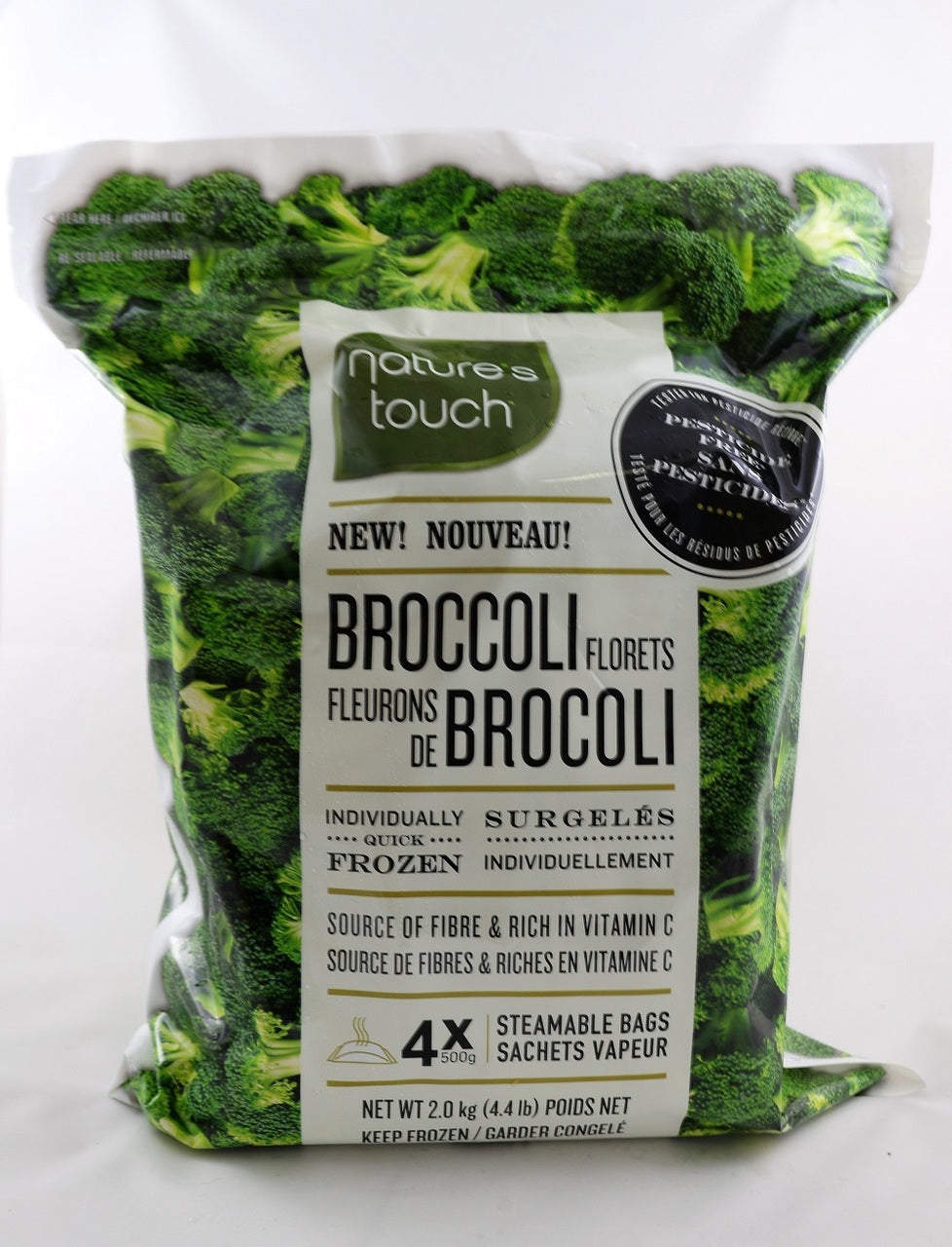 Nature's Touch Broccoli Florets Steamable (4PK) 500G