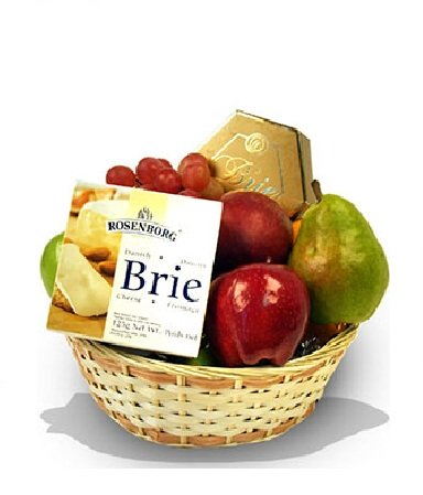 Fruit and Cheese Basket, 12 pcs