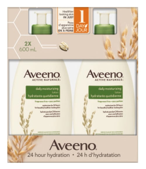 Aveeno daily moisturizing lotion  2 × 600 mL