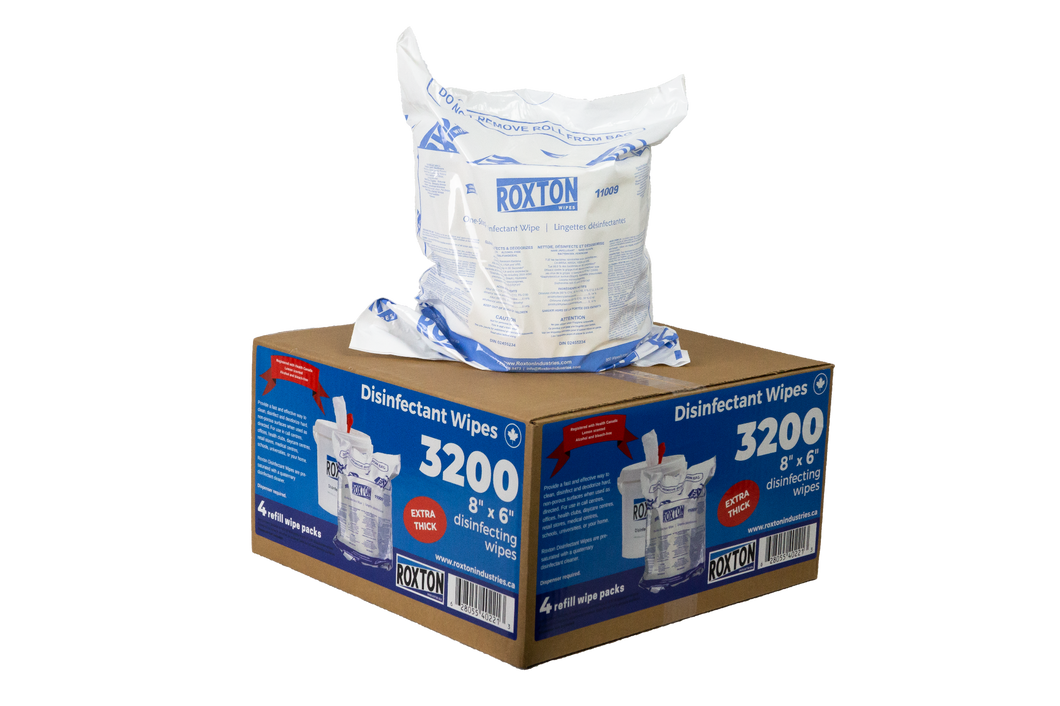 Roxton Disinfectant Wipes / Refill Rolls 800/3200 count