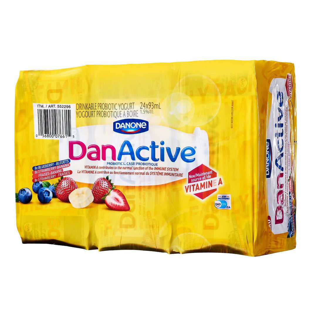 Danone DanActive drinkable probiotic yogurt  24 × 93 mL