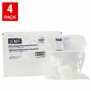 Roxton Non-alcohol Foaming Cleanser Sanitizer Refills, 4-pack