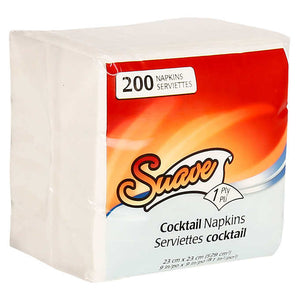 Suave 1-ply Cocktail Napkins 8,000-count