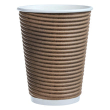 Load image into Gallery viewer, Café Express 355 ml (12 oz.) Corrugated Disposable Cups, 1000 pack