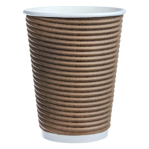 Café Express 355 ml (12 oz.) Corrugated Disposable Cups, 1000 pack