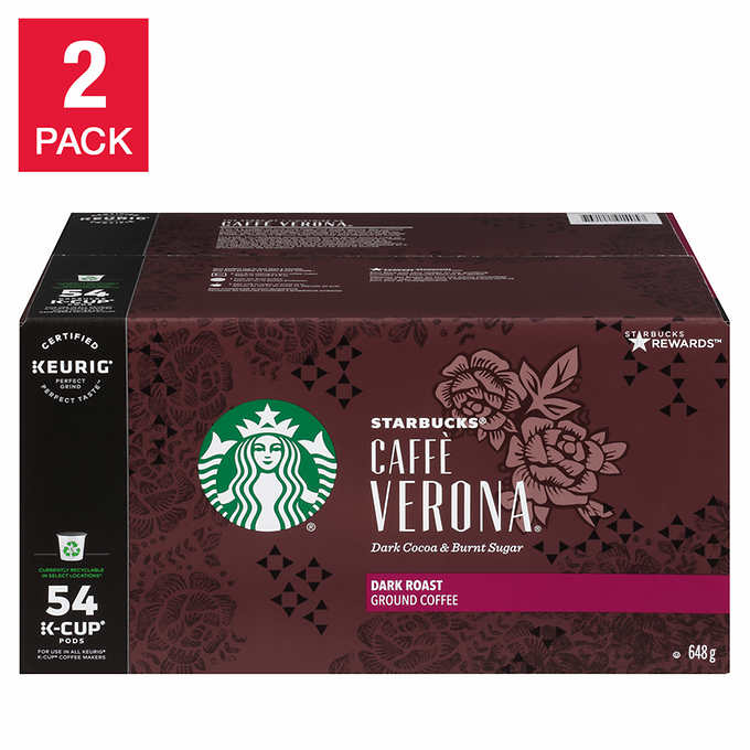 Starbucks Single Serve Coffee Caffè Verona, 2 x 54 K-Cup Pods