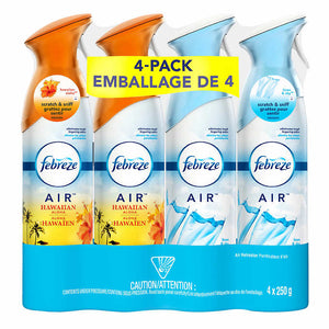 Febreze Air Effects Refresher Variety Pack, 4x250g