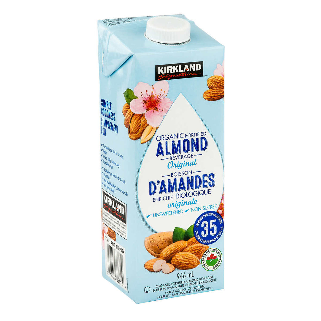 Kirkland Signature Organic Almond Beverage, Vanilla, 946 mL, 6-count