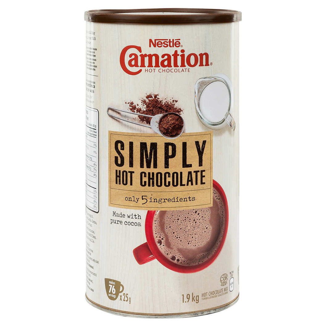 Carnation Hot Chocolate, Simply 5 Ingredients, 1.9 kg