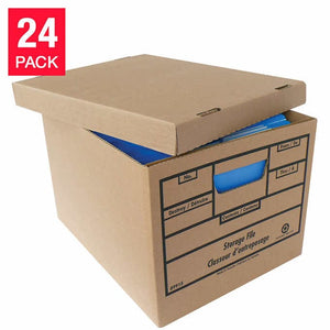 Crownhill Packaging Recycled Content File Storage Box 24 pack