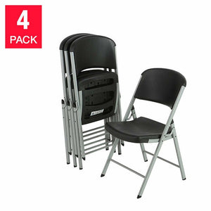 Lifetime Commercial Folding Chairs, 4-pack