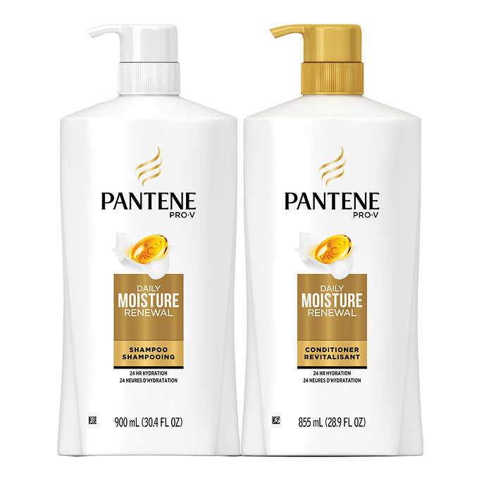 Pantene Pro-V 900 mL Shampoo and 855 mL Conditioner