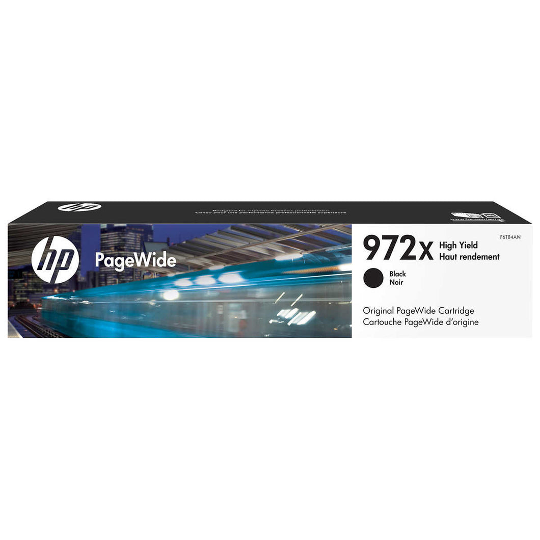 HP 972X Black High Yield Original PageWide Ink Cartridge (F6T84AN)