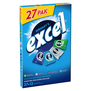 Excel Sugar-Free Variety Pack Gum, 27 Packs Of 12