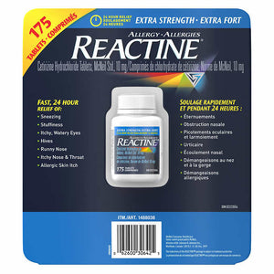 Reactine extra-strength allergy relief  175 tablets