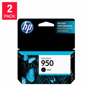 HP 950 Black Ink Cartridge (CN049AN) - 2 Pack
