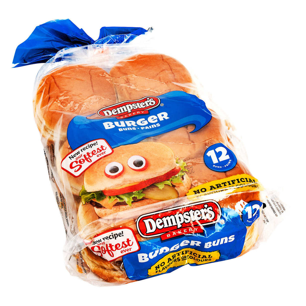 Dempster's Hamburger Buns 2 packs of 12