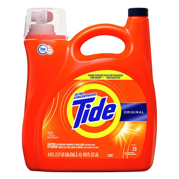 Tide Advanced Power Ultra Concentrated Liquid Laundry Detergent with Oxi, Original, 110 loads