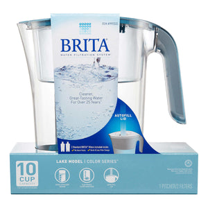 Brita Lake 2.4 L (10-Cup) Pitcher with 2 Filters